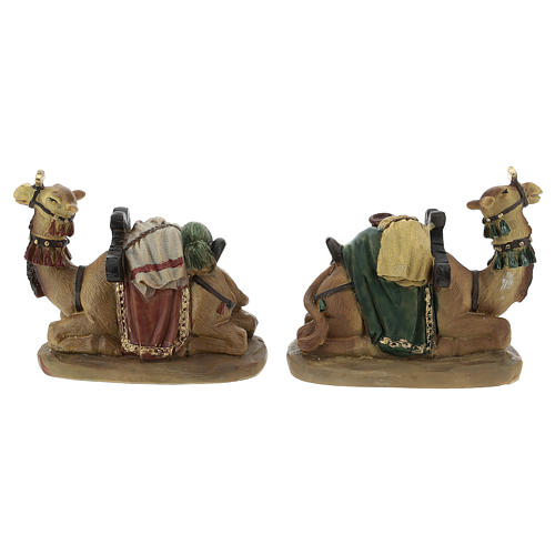 Set of 2 resin camels for Nativity scenes of 11 cm 4