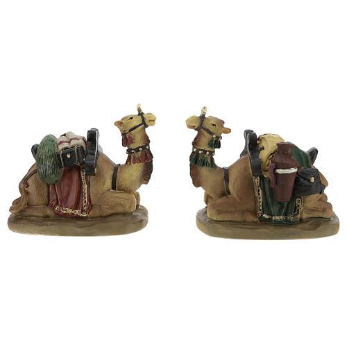Camellos resina para belén de 11 cm set de 2 piezas 1