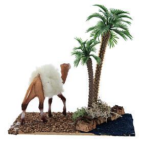 Oaza z palmami i wielbłądem do szopki 10x10x7 cm s4