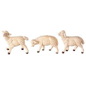 Moutons 3 pcs résine pour crèche 8-10 cm s1