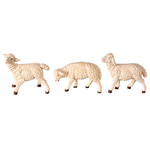 Sheep 3 pc set in resin, for 8-10 cm nativity 1