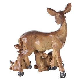 Famille de chevreuils résine pour crèche 10-12-14 cm s3