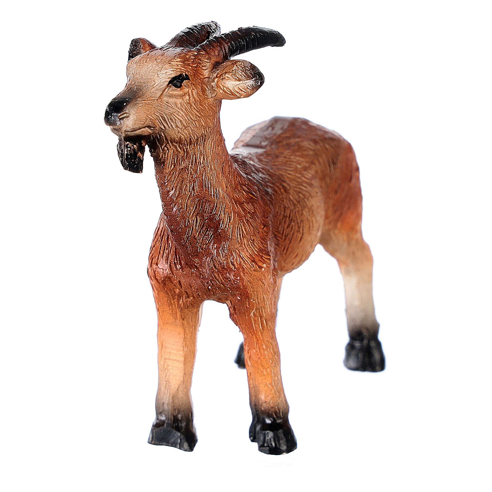 Miniature goat in resin, for 10-12 cm nativity 3