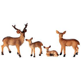 Famille de cerfs 4 pcs crèche 10-12-14 cm s1