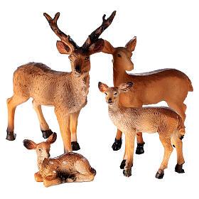 Famille de cerfs 4 pcs crèche 10-12-14 cm s3