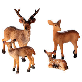 Deer family 4 pcs set, for 10-12-14 cm nativity s2