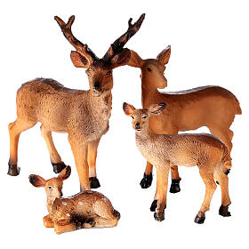 Deer family 4 pcs set, for 10-12-14 cm nativity s3