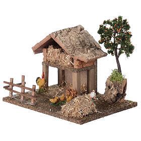 Miniature barn with farmyard for nativity 20x15x15 cm s2