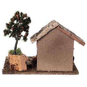 Miniature barn with farmyard for nativity 20x15x15 cm s4