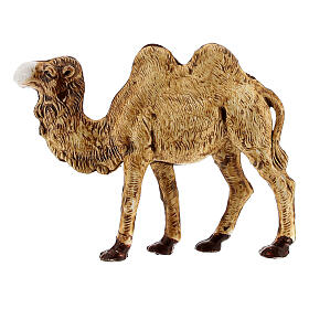 Camel figurine standing in plastic 4 cm nativity s1