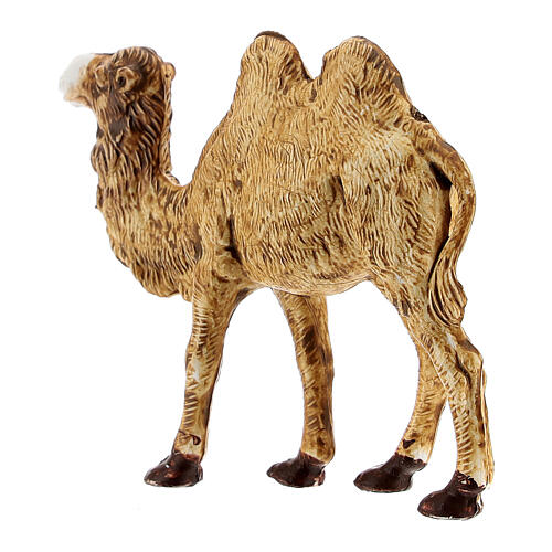 Camel figurine standing in plastic 4 cm nativity 3