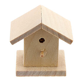 Wooden bird house Nativity scene 8-10 cm s1
