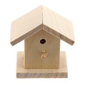 Casetta legno uccelli presepe 8-10 cm s1