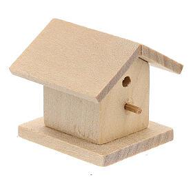 Casetta legno uccelli presepe 8-10 cm s3