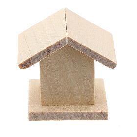 Casetta legno uccelli presepe 8-10 cm s4