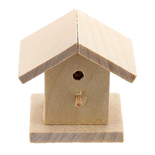 Casetta legno uccelli presepe 8-10 cm 1