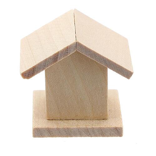 Casetta legno uccelli presepe 8-10 cm 4