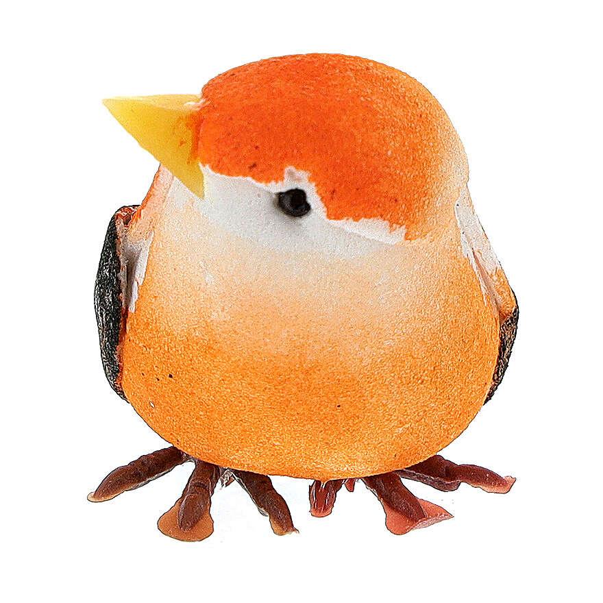 Pajarito coloreado belén hecho con bricolaje 8 cm 3