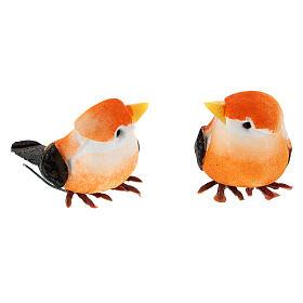 Colored bird figurines, DIY nativity 8 cm s3