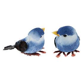 Colored bird figurines, DIY nativity 8 cm s6