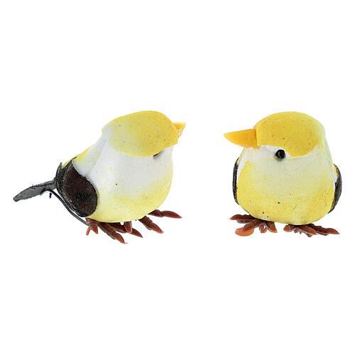 Colored bird figurines, DIY nativity 8 cm 2