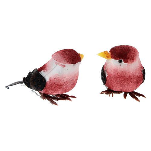 Colored bird figurines, DIY nativity 8 cm 5