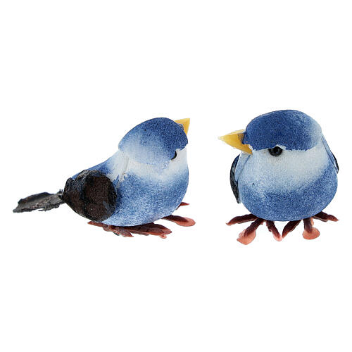 Colored bird figurines, DIY nativity 8 cm 6