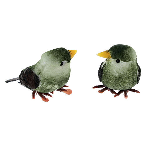 Colored bird figurines, DIY nativity 8 cm 7