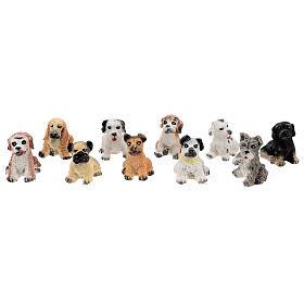 Dog figurines 10 pcs set, DIY nativity 8-10 cm s1