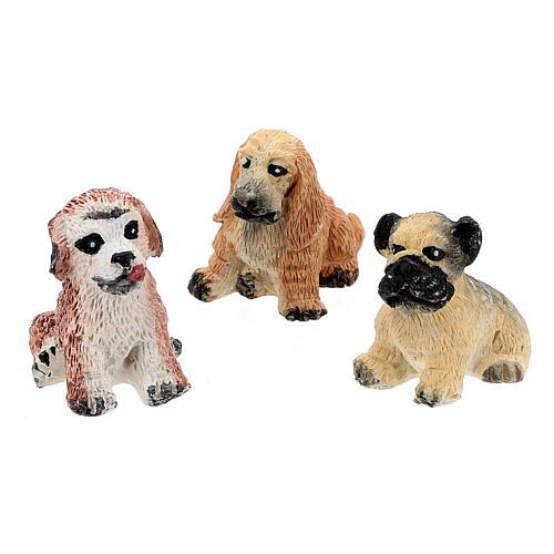Dog figurines 10 pcs set, DIY nativity 8-10 cm 2