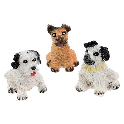 Dog figurines 10 pcs set, DIY nativity 8-10 cm 3