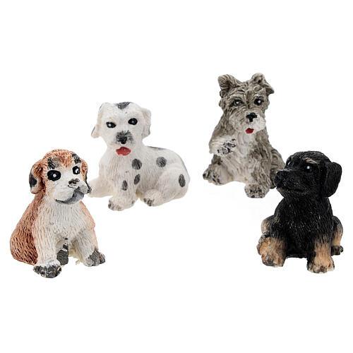 Dog figurines 10 pcs set, DIY nativity 8-10 cm 4