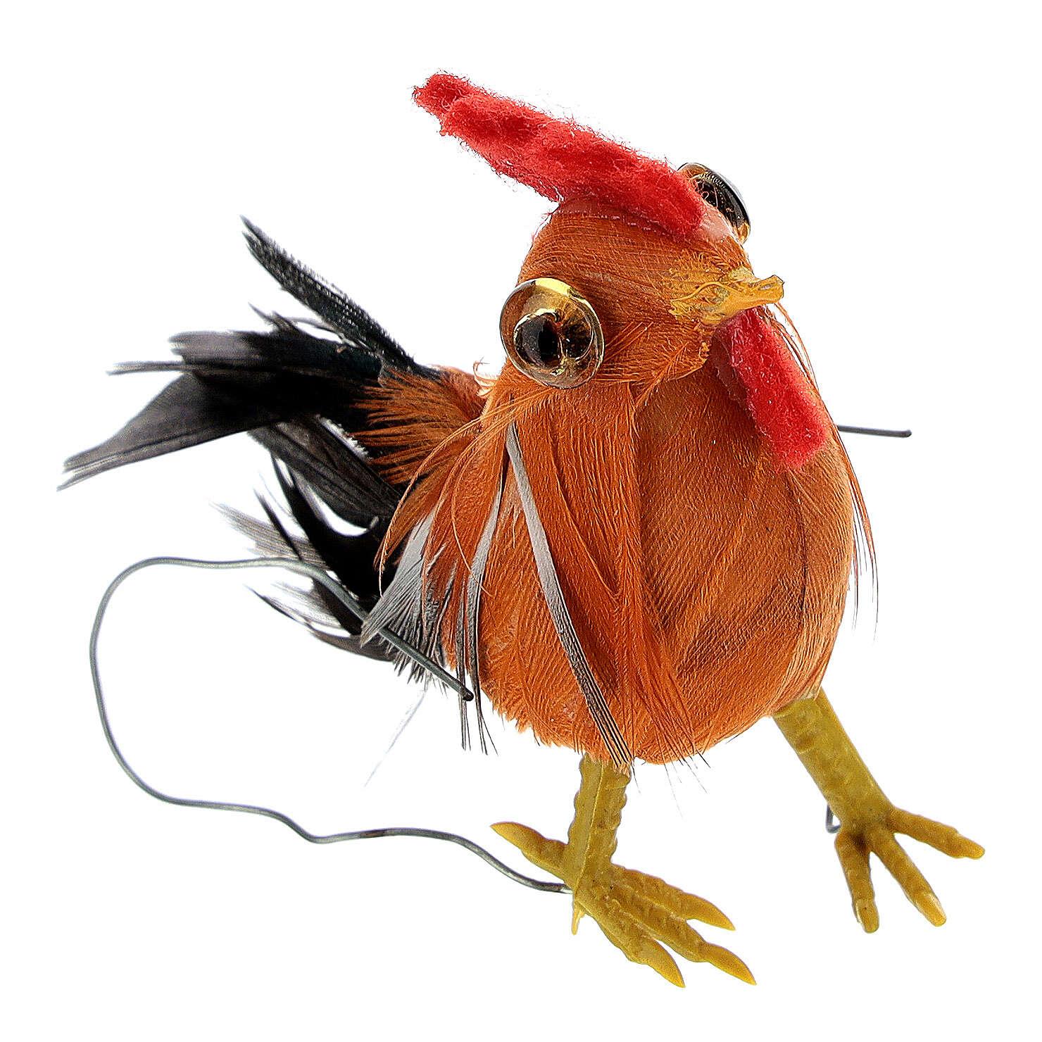 Gallo belén hecho con bricolaje 10-12 cm 3