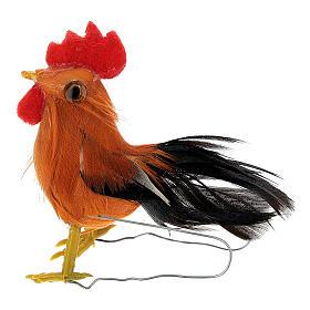 Gallo belén hecho con bricolaje 10-12 cm s1