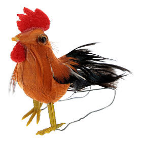Gallo belén hecho con bricolaje 10-12 cm s2