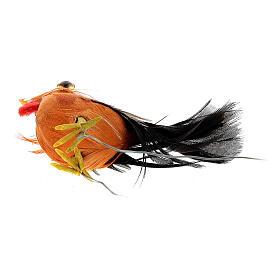 Gallo belén hecho con bricolaje 10-12 cm s4