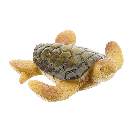 Tartaruga marina presepe resina 8-10 cm 2