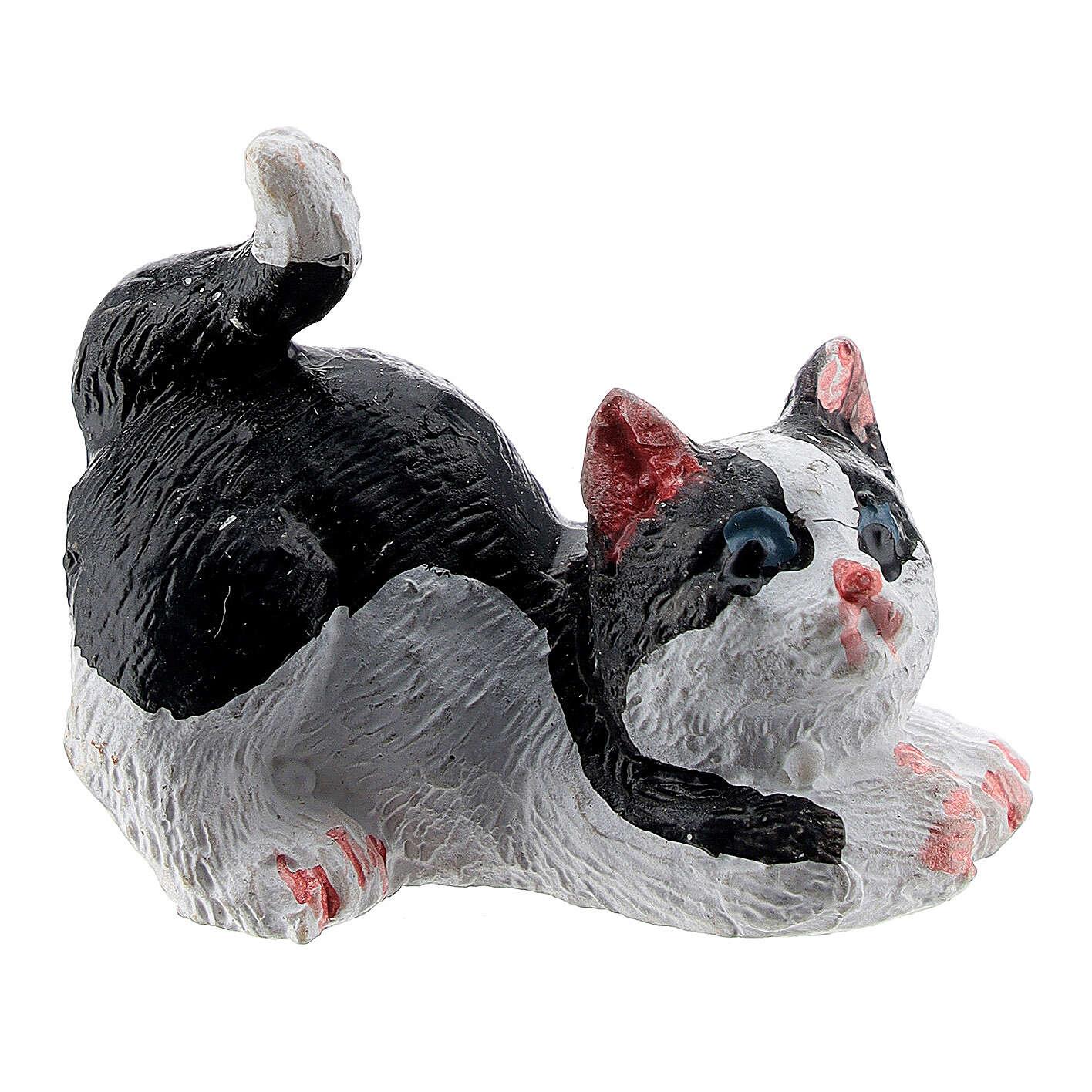 Cat 3 cm for Nativity scene 12 cm 3
