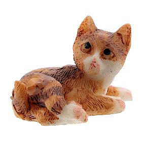 Resin cat 3 cm for Nativity Scene with 12 cm figurines s2