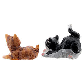 Resin cat 3 cm for Nativity Scene with 12 cm figurines s3