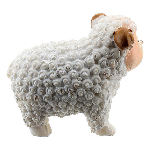Miniature white lamb for resin nativity 8 cm kids line 2