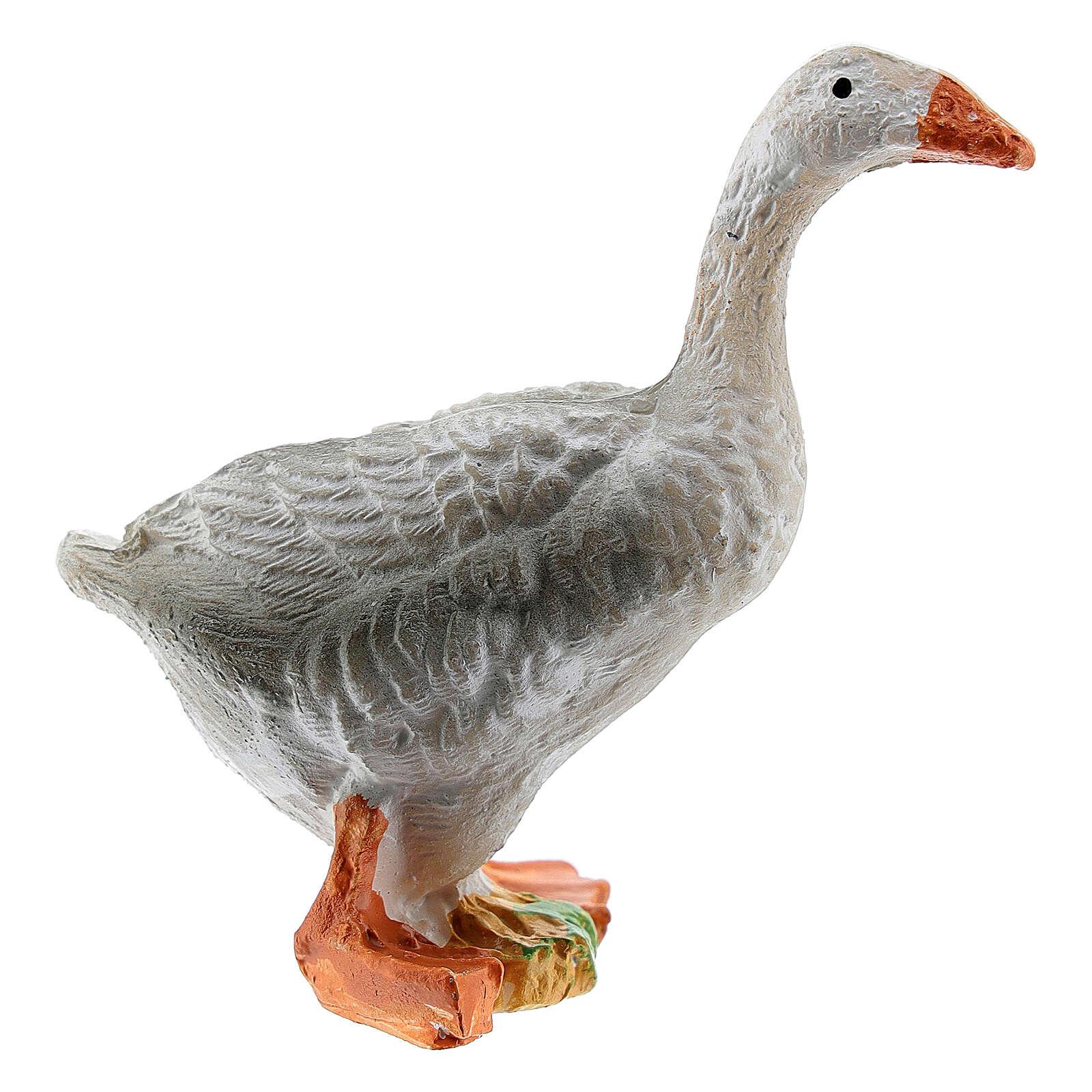 Miniature goose figurine resin nativity 10-12 cm 3