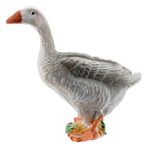 Miniature goose figurine resin nativity 10-12 cm 1
