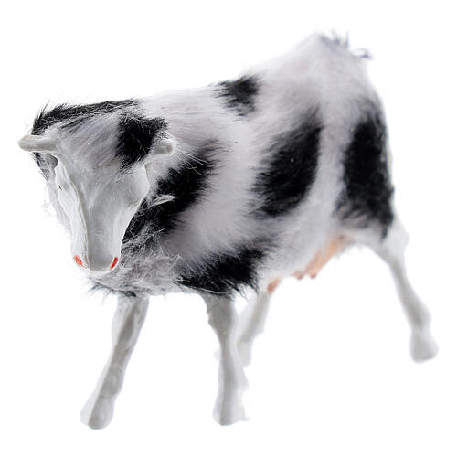 Cow with soft coat DIY Nativity scene 6-8 cm 2