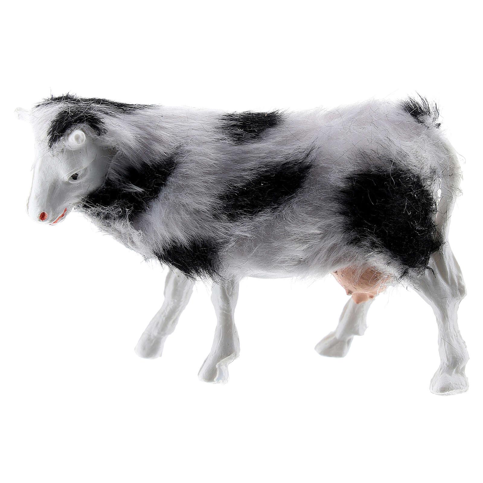 Cow with soft coat 6-8 cm DIY nativity scene 3