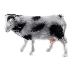 Cow with soft coat 6-8 cm DIY nativity scene s1