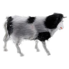 Cow with soft coat 6-8 cm DIY nativity scene s3