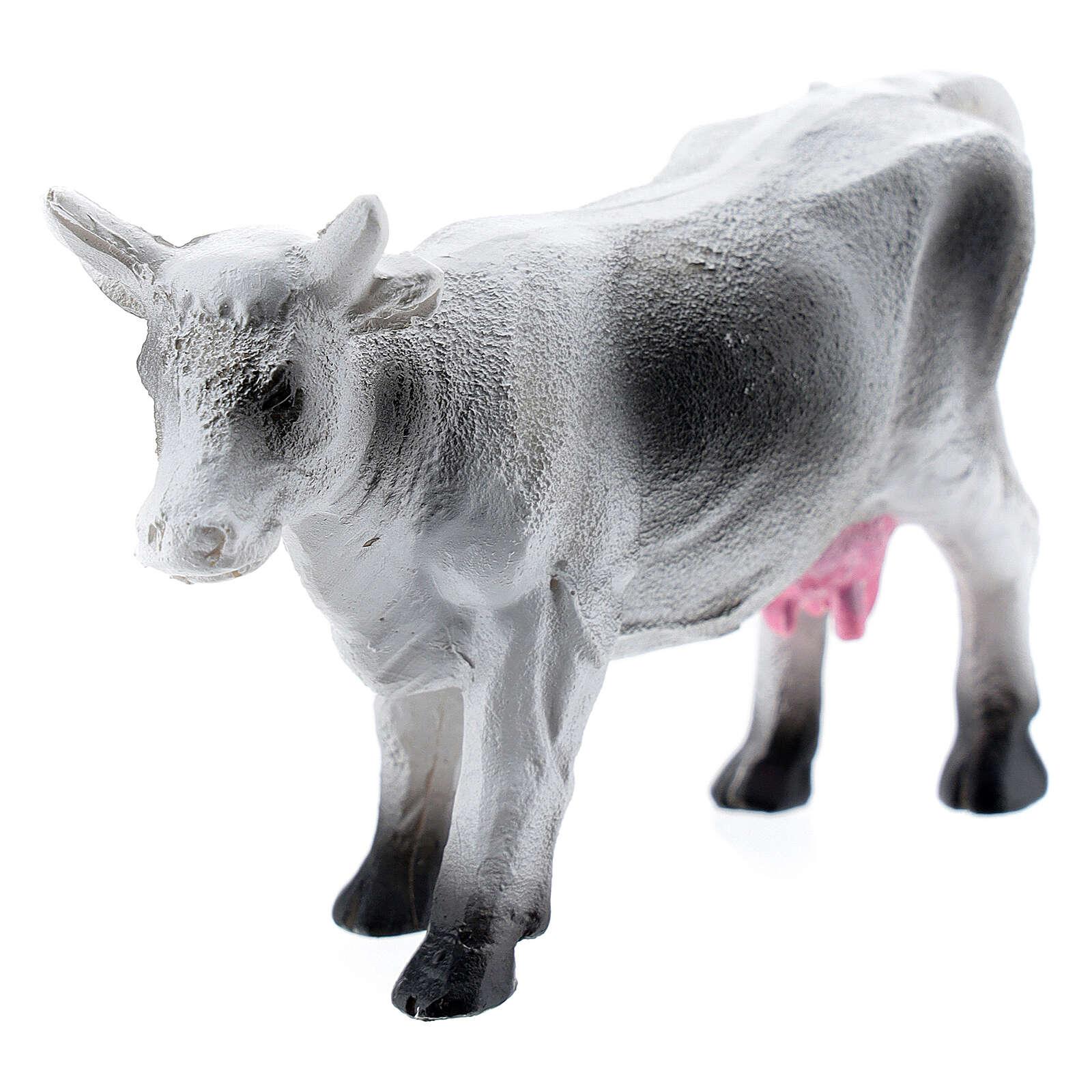Resin cow for miniature Nativity scene 6-8 cm 3