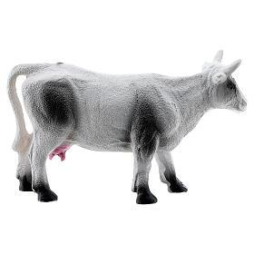 Cow figurine miniature resin nativity 6-8 cm s3