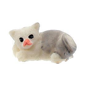 Katze aus Harz für Krippe verschiedene Modelle, 8-10 cm s1